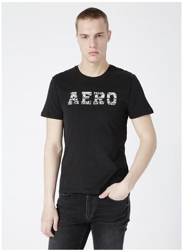 Aeropostale Aeropostale Erkek Siyah Bisiklet Yaka T-Shirt Siyah